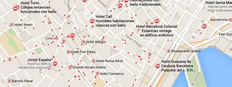 Alojamiento en Google Maps